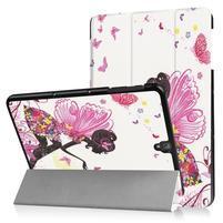 Emotive PU kožené polohovatelné pouzdro na Samsung Galaxy Tab S3 9.7 T820 - motýlí víla