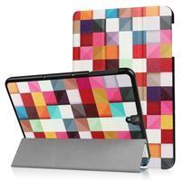Emotive PU kožené polohovatelné pouzdro na Samsung Galaxy Tab S3 9.7 T820 - barevné kostky