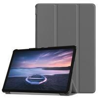 Trifold PU kožené polohovací pouzdro na Samsung Galaxy Tab S4 10.5 (SM-T830/T835) - šedé