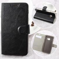 Horse PU kožené puzdro na mobil Samsung Galaxy Xcover 4 - čierne