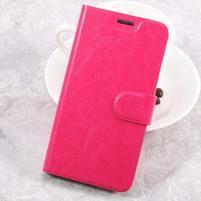 Horse PU kožené puzdro na mobil Samsung Galaxy Xcover 4 - rose
