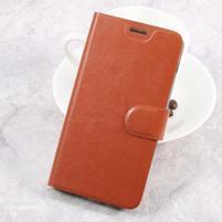 Horse PU kožené puzdro na mobil Samsung Galaxy Xcover 4 - hnedé
