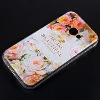 Patty gélový obal na mobil Samsung Galaxy Xcover 4 - kvetinová krása