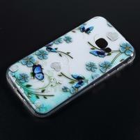 Patty gelový obal na mobil Samsung Galaxy Xcover 4 - motýli na kvítí