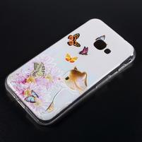 Patty gelový obal na mobil Samsung Galaxy Xcover 4 - motýlci s kočičkou