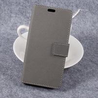 Cross PU kožené klopové pouzdro na Samsung Galaxy Xcover 4 - šedé