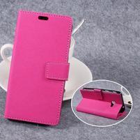 Cross PU kožené klopové pouzdro na Samsung Galaxy Xcover 4 - rose