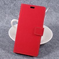 Cross PU kožené klopové puzdro na Samsung Galaxy Xcover 4 - červené