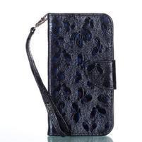 Motýlí PU kožené pouzdro na Samsung Galaxy Xcover 4 - černé