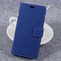 Cross PU kožené klopové pouzdro na Samsung Galaxy Xcover 4 - modré