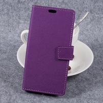 Cross PU kožené klopové pouzdro na Samsung Galaxy Xcover 4 - fialové
