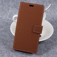 Cross PU kožené klopové puzdro na Samsung Galaxy Xcover 4 - hnedé