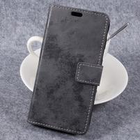 Vintage PU kožené  pouzdro na mobil Samsung Galaxy Xcover 4 - šedé