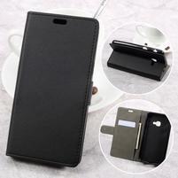 Knížkové PU kožené pouzdro na Samsung Galaxy Xcover 4 - černé