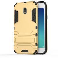 Defender odolný obal na mobil Samsung Galaxy J3 (2017) - zlatý