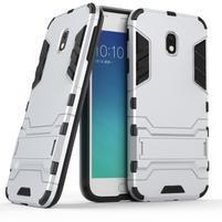 Defender odolný obal na mobil Samsung Galaxy J3 (2017) - stříbrný