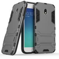 Defender odolný obal na mobil Samsung Galaxy J3 (2017) - šedý