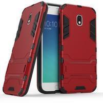 Defender odolný obal na mobil Samsung Galaxy J3 (2017) - červený