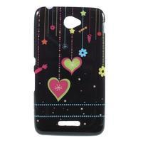 Gelový obal na Sony Xperia E4 - srdce