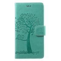 Tree knížkové zapínací pouzdro na Sony Xperia L1 - cyan