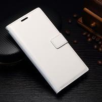 Grain PU kožené knížkové pouzdro na Sony Xperia L1 - bílé
