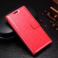 Grain PU kožené knížkové pouzdro na Sony Xperia L1 - červené