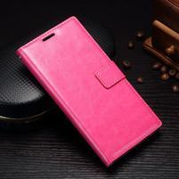 Grain PU kožené knížkové pouzdro na Sony Xperia L1 - rose