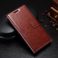 Grain PU kožené knížkové pouzdro na Sony Xperia L1 - hnědé