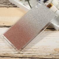 Glitter gelový obal na Sony Xperia XA Ultra - rosegld