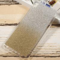 Glitter gelový obal na Sony Xperia XA Ultra - zlatý