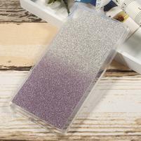 Glitter gelový obal na Sony Xperia XA Ultra - fialový