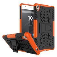 Outdoor odolný obal na mobil Sony Xperia XA Ultra - oranžový
