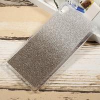 Glitter gelový obal na Sony Xperia XA Ultra - šedý