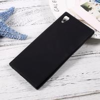 Matný gelový obal na mobil Sony Xperia XA1 - černý
