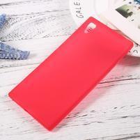 Matný gelový obal na mobil Sony Xperia XA1 - červený