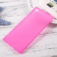 Matný gelový obal na mobil Sony Xperia XA1 - rose