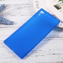 Matný gelový obal na mobil Sony Xperia XA1 - modrý