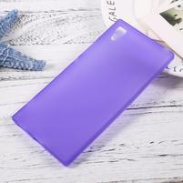 Matný gelový obal na mobil Sony Xperia XA1 - fialový