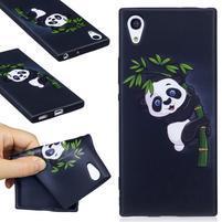 Matty gelový obal na Sony Xperia XA1 - panda na bambusu
