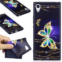 Matty gelový obal na Sony Xperia XA1 - zlatý motýl