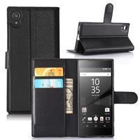Graines peněženkové pouzdro na mobil Sony Xperia XA1 - černé