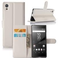 Graines peněženkové pouzdro na mobil Sony Xperia XA1 - bílé