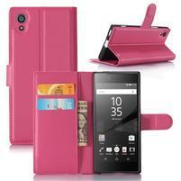 Graines peněženkové pouzdro na mobil Sony Xperia XA1 - rose