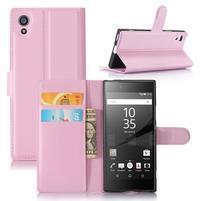 Graines peněženkové pouzdro na mobil Sony Xperia XA1 - růžové