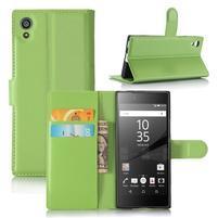 Graines peněženkové pouzdro na mobil Sony Xperia XA1 - zelené