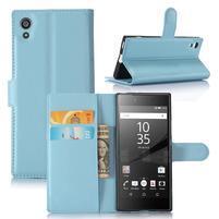 Graines peněženkové pouzdro na mobil Sony Xperia XA1 - světlemodré