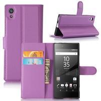 Graines peněženkové pouzdro na mobil Sony Xperia XA1 - fialové