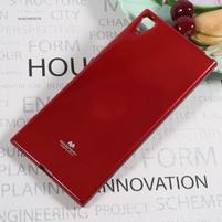 MG jemně se třpytící gelový obal na Sony Xperia XA1 Ultra - červený