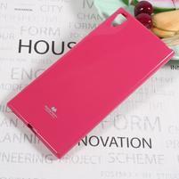 MG jemně se třpytící gelový obal na Sony Xperia XA1 Ultra - rose