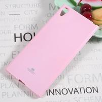 MG jemně se třpytící gelový obal na Sony Xperia XA1 Ultra - růžový